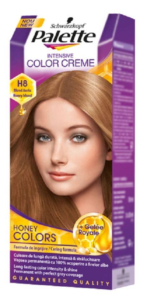 farbe za kosu palete boje za kosu u nijansama meda sa dodatkom matičnog mleča
