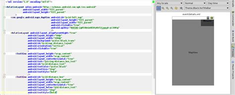 layout xml view android is possible to view both graphic layout and