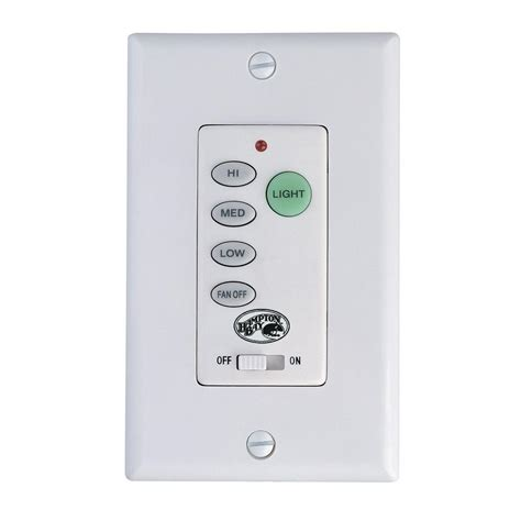 ceiling fan control hton bay ceiling fan wall control 9050h the home depot