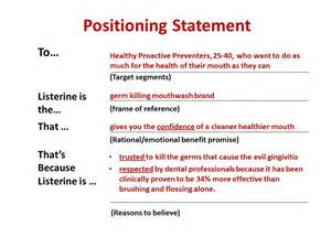 what is a positioning statement in marketing example k k