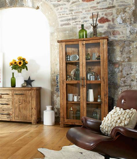 dining room display cabinets country reclaimed solid wood farmhouse glass display