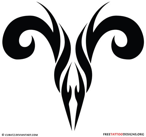 tribal ram tattoo 35 aries tattoos ram designs