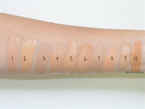 with glam medium toned foundation swatches on nc37