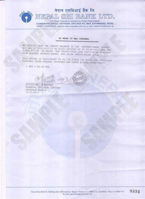 letterhead template sbi sle letter of bank balance certificate choice image