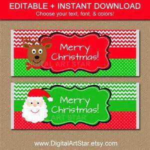 editable christmas chocolate bar wrappers by digitalartstar