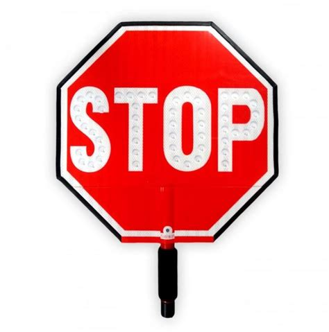 hand held stop sign with led lights led stop slow paddle sign led hand held signs for sale