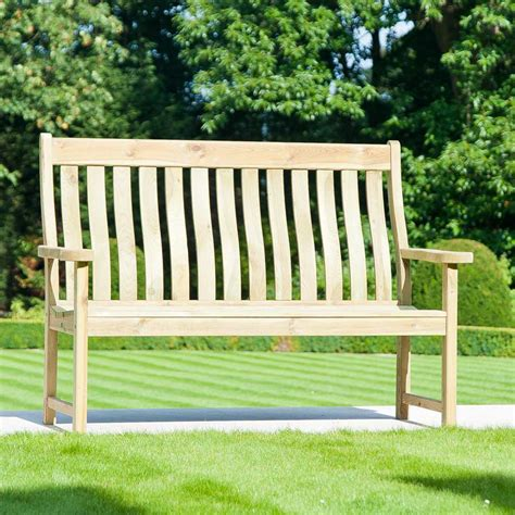 5ft garden bench alexander rose pine farmers 4ft bench 163 235 13