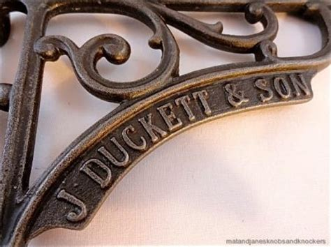 pair beautiful antique style j duckett cast iron