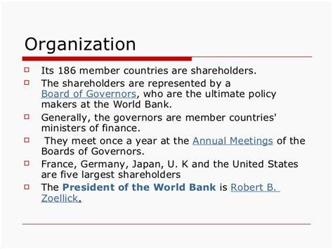 world bank organisation world bank