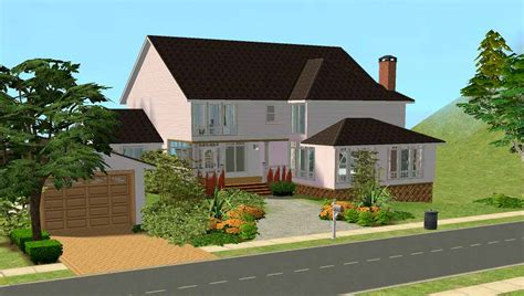 Mod The Sims 1 Lake Road 3 Bed Family Home Fully