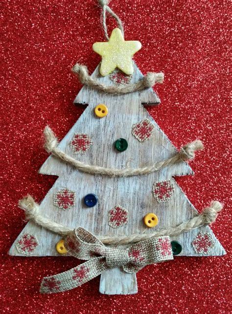 diy rustic christmas tree ornament