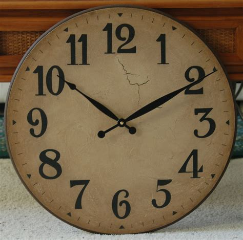large wall clocks 18 inch large wall clock antique rustic tuscan gallery