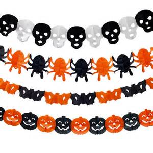 How To Make Halloween Decorations With Paper Online Get Cheap Halloween Paper Garland Aliexpress Com