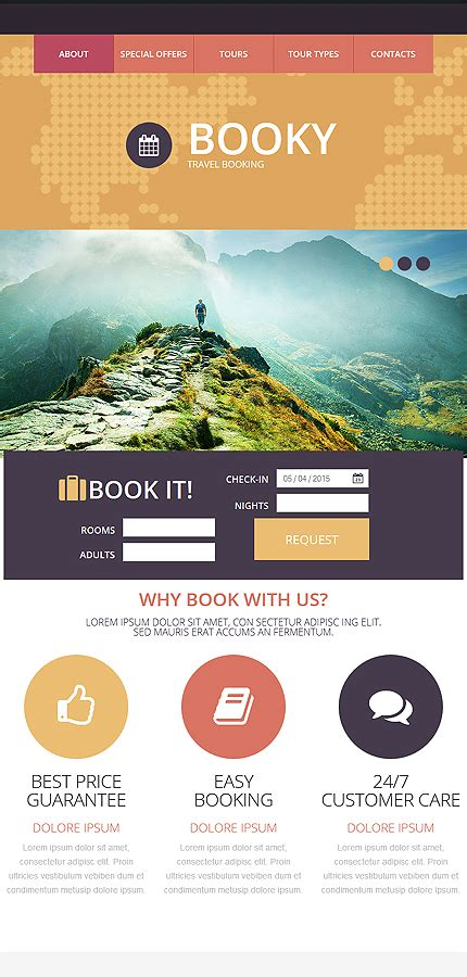 Tour Operator Website Template 52960 Tour Operator Website Template