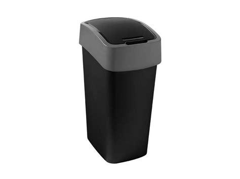 poubelle 50l cuisine poubelle cuisine 50 l flip bin coloris noir vente de