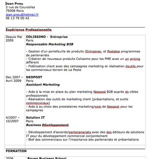 Lettre De Motivation Grande Ecole Commerce Exemple Cv Ecole De Commerce Cv Anonyme