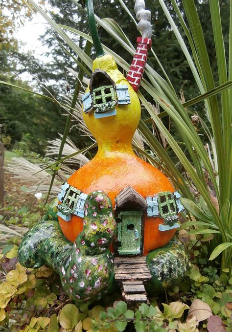 Fairy House Gourd Sculpture by Gordon Wendling