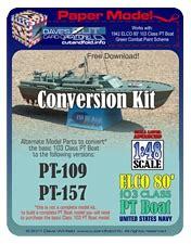 pt boat conversions paper model shop aviation paper models elco pt boat