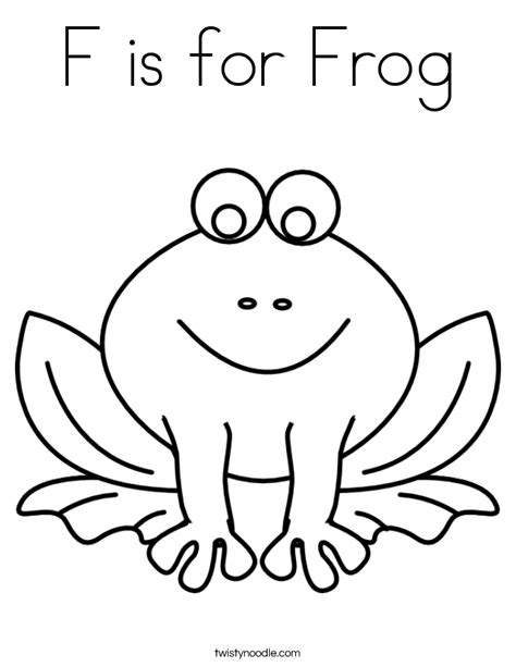 Free Coloring Pages Of F Is For Frog Frog Colouring Pages