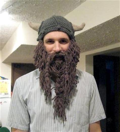 knit viking hat with beard pattern my
