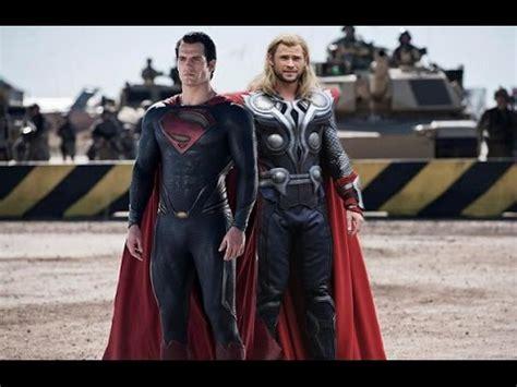 movie thor vs superman superman vs thor trailer fan made youtube