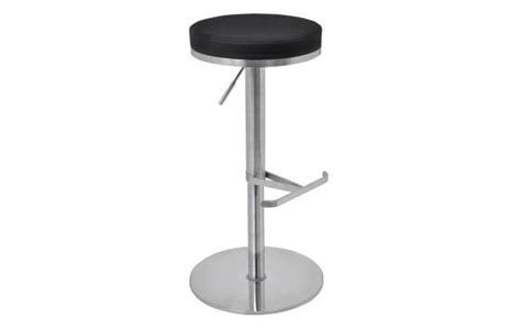 Small Stools And Gas by Biarritz Gas Stool Brushed Steel Finish
