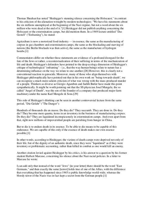 Gestell Heidegger by Heidegger And Nazism