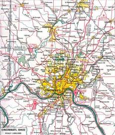 Cincinnati Ohio Map by U S Metropolitan Area Maps Perry Casta 241 Eda Map