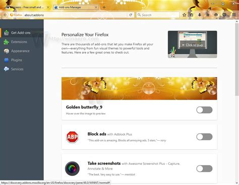 firefox live themes firefox 48 comes with new get add ons page