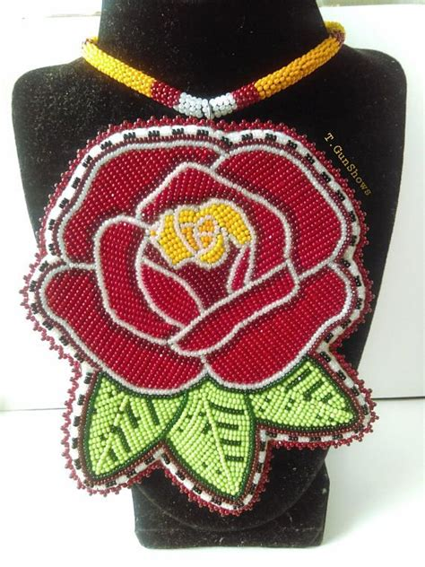 beadwork rose beaded medallion beadwork beading