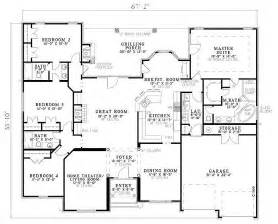 one level house plans with porch european style house plan 4 beds 3 baths 2525 sq ft plan