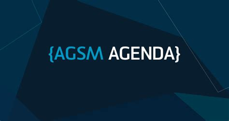 Agsm Mba Executive Timetable by Australian Graduate School Of Management Unsw Australia