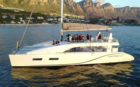 mirage catamaran cape town mirage catamaran full day charter cape town v a