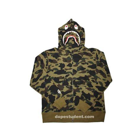 Hoodie Sweater Bape Shark Camo green camo zip bape shark hoodie dopestudent