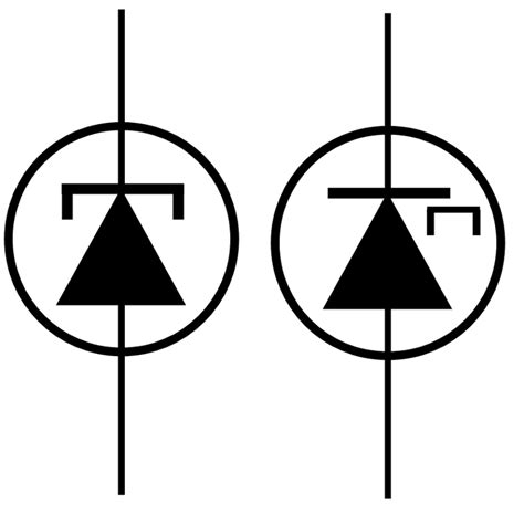 diode symbol with sign tunnel vector clipart best