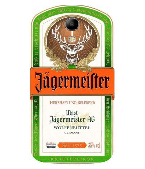 Snoogg Jagermeister Logo Case Cover For Samsung Galaxy S4 Mini Printed Back Covers Online At Jagermeister Label Template