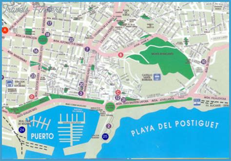 map of alicante city alicante map travelsfinders