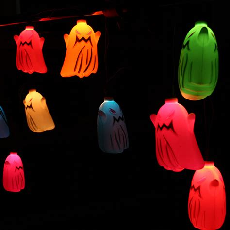 halloween ghost string lights buy halloween 16 skull style colorful flashing string