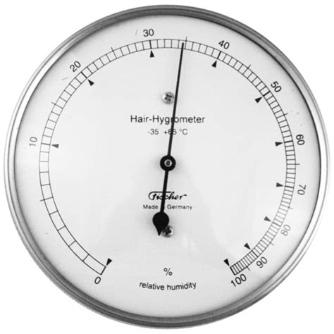 Analog Hygrometer White Large fischer instruments 111 01 stainless steel 4 quot human hair hygrometer