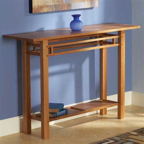 hall table woodworking plan home furniture project plan