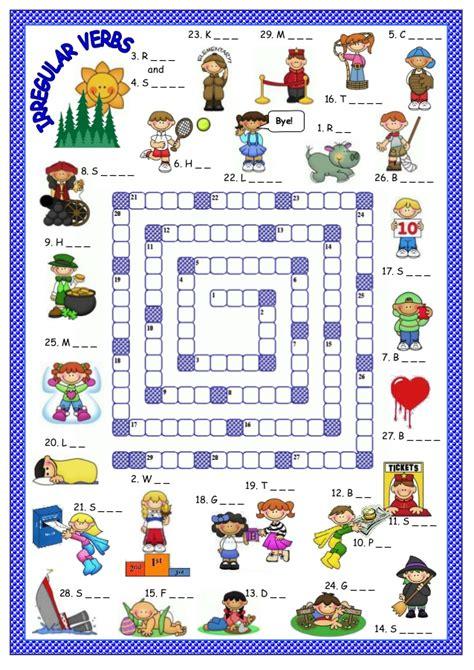 verb pattern board game irregular verbs game