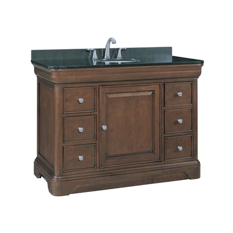 allen roth fenella rich cherry undermount single sink bathroom vanity  granite top actual