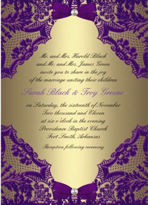 wedding details card template purple formal invitation template 31 free sle exle