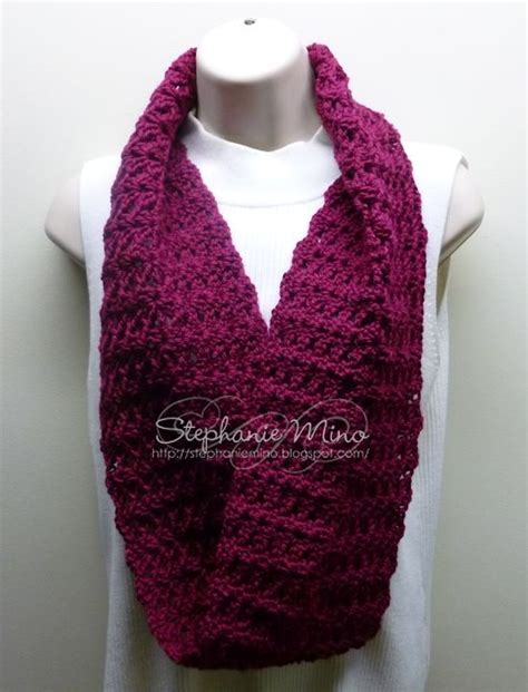 infinity scarf done in caron simply soft yarn crochet