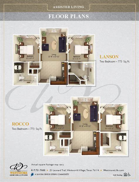senior living floor plans floor plans the westmore senior living