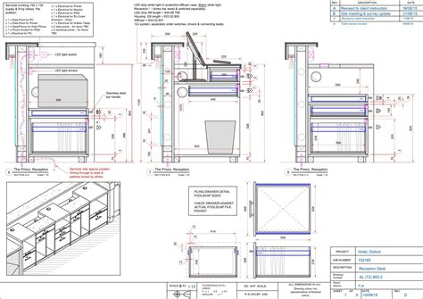 reception desk designs drawings production detailing 360 degree design
