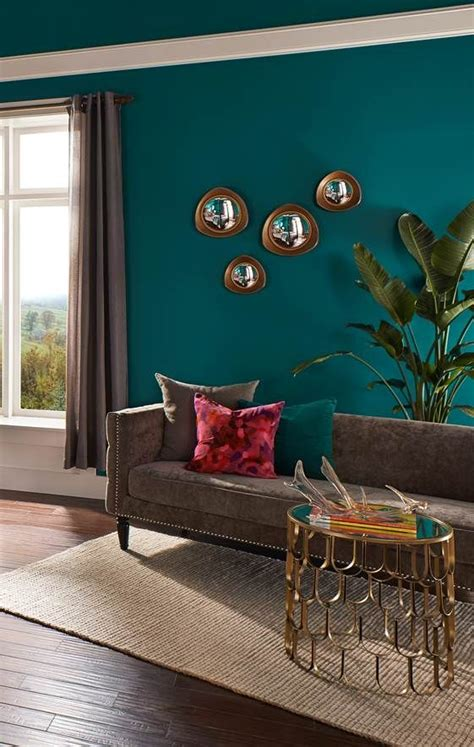 teal accent wall a rich teal hue of behr premium plus ultra coats the walls