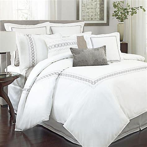 charisma bedding charisma bradford comforter set in white bedbathandbeyond com