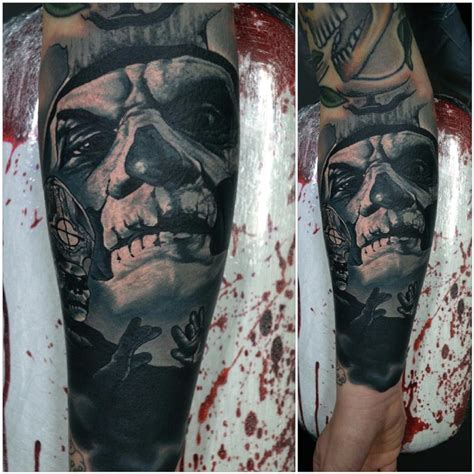 papa emeritus ii ghost tattoo by alan aldred tattoos