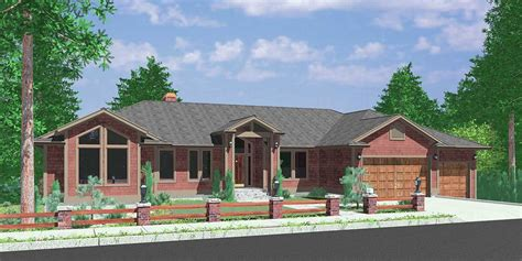 custom ranch house plans hillside home plans with basement sloping lot house plans